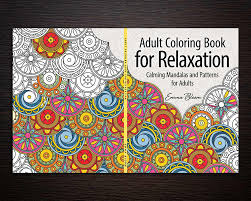 Relaxation Adult Coloring Book Cover Design
