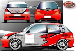 deco voiture de rallye nouveau proget 106 rallye gr a pour le rallye sprint de marchin
