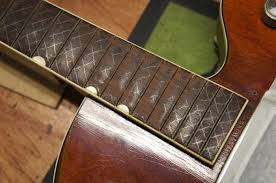 Heres The Fretboard Trued With All Fingernail Wear And Warping Gone From Surface Of