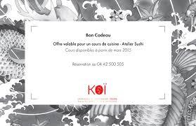 cours de cuisine sushi cours de cuisine atelier sushi restaurant koi