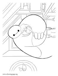 Big Hero 6 Coloring Sheet See More In This Beautiful Picture Baymax Is Hugging His Friend Hiro Hamada Enjoy Amazing