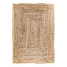 broom teppich 240x180 jute natur beige creme läufer wohnzimmer esszimmer modern