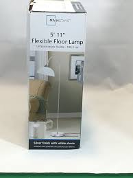 Mainstays Floor Lamp With Reading Light Brown by Mainstays Jelly Gooseneck Floor Lamp Amazon Com