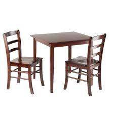 Amazon.com : Wood & Style Premium Décor 3-Pc Square Dining ...
