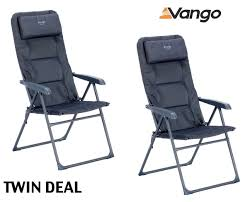 2 X Vango Hampton Dlx Folding Chair Excalibur By Vango ...