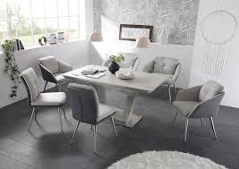 details zu stuhl 2er set emily esszimmerstuhl polsterstuhl edelstahl grau hell