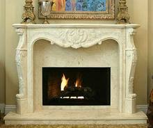 King Louis 308 Hand Carved Natural Stone Fireplace Mantel