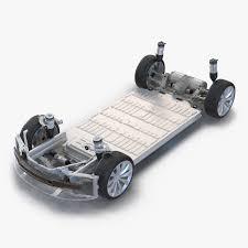 3D Tesla S Chassis Modeled 3D Model Automobiles Tesla S Kit