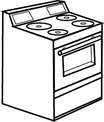 28 Collection Of Stove Drawing For Kids