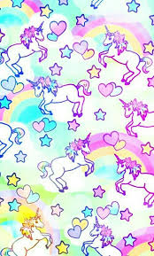 FREE Iphone Android Wallpaper Wallies Phone Pastel Unicorn Rainbow