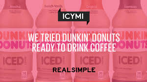 Pumpkin Swirl Iced Coffee Dunkin Donuts by We Tried Dunkin U0027 Donuts U0027 New Line Of Bottled Coffees Real Simple