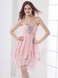 2016 New Cheap Short Cute Pink Prom Chiffon Petite Sweetheart 5th Grade Graduation Ceremony Dresses College