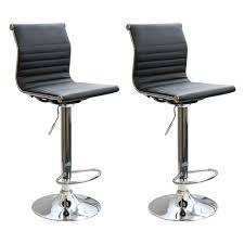 AmeriHome Adjustable Height Gray Fabric Swivel Cushioned Bar ...