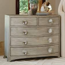 Global Views Bow Front 5 Drawer Dresser Grey