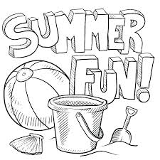 Summer Coloring Pages Vacation Free Printable For Toddlers To Print