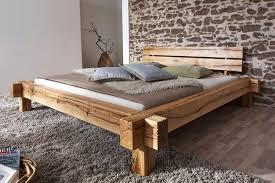 massivholz balkenbett 200x200 bett rustikal doppelbett asteiche geölt