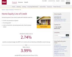 BB&T Home Equity Line of Credit Home Equity Line of Credit