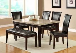 Sleek Dining Table Set With Bench On White Carpet And Large Window