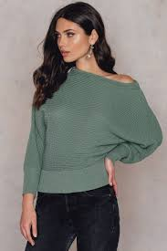 off shoulder knitted sweater buy online na kd