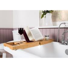 Bamboo Bath Caddy Uk by Bamboo Wooden Over Bath Tray Caddy Rack Shelf Tablet Phone