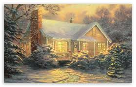 Thomas Kinkade Christmas Tree Cottage by Christmas Cottagethomas Kinkade Hd Desktop Wallpaper High Inside