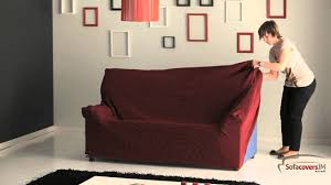 Sure Fit Sofa Covers Ebay by How To Install A Elastic Sofa Cover Youtube