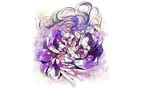 Pink Flower Dresser Knobs by Vocaloid Flowers Hatsune Miku Long Hair Socks Blue Hair Purple