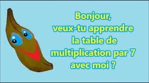 comment apprendre table de multiplication apprendre la table de multiplication de 7 avec une banane