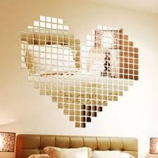 Bathroom Mosaic Mirror Tiles by 100 Piece Self Adhesive Tile 3d Mirror Wall Stickers Decal Mosaic