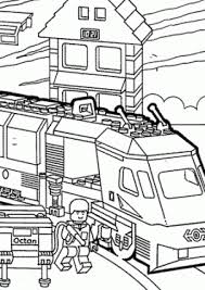 Lego Duplo Train Coloring Page For Kids Printable Free