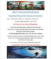 Halloween Riddles Adults by Human Concerns Haunted House 2017 Flyer South Milwaukee Blog