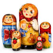 100 Matryoshka Kitchen Antoshka Nesting Doll 5 Pc