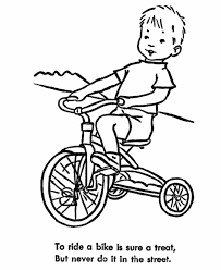 Learning Years Child Safety Coloring Page