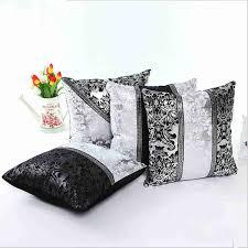 Oversized Throw Pillows Canada by 45 45cm Retro Style Square Black Silver Throw Pillow Case Sofa