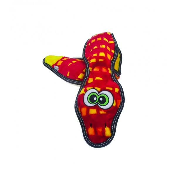 Outward Hound Invincibles Tough Seamz Stuffingless Dog Squeaky Toy - Snake