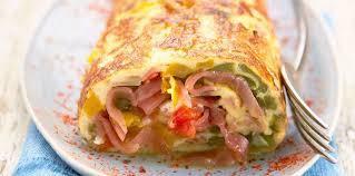 cuisine bayonne omelette roulée au jambon de bayonne facile et pas cher recette