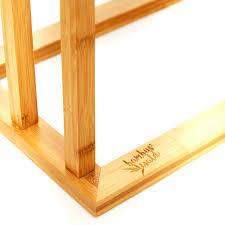 freistehender handtuchhalter aus bambus
