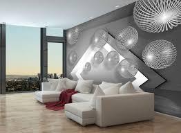 fototapete grau kugeln 3d effekt var fototapeten tapete wandbild modern wasser beton m1328 l 300 x 210 cm 6 teile