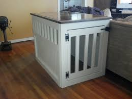 How To Build A End Table Dog Crate by Ana White Dog Kennel End Table For Donation Diy Projects