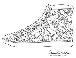 Printable Coloring Pages Shoes