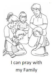 Coloring Pages Of Families 19 Cool My Family I Can Pray With Sheet