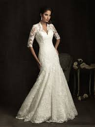 V Neck Sleeves Mermaid Lace Rustic Wedding Dresses Full Size