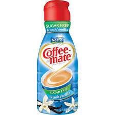 Coffee Mate Sugar Free Liquid Non Dairy Creamer French Vanilla 32 Oz