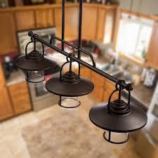 patriot lighting皰 home 3 light miner bronze island light