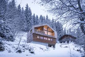 100 Modern Mountain Cabin Stands Outs In Spite Of Strict Architectural