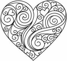 Extraordinary Design Ideas Heart Coloring Pages Printable Page Could Be A Nice Quilling Pattern