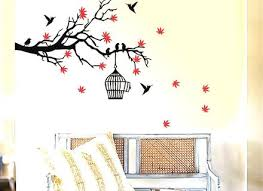 Simple Wall Paintings Birds Amazing Enhance Your Space With