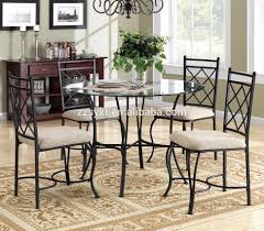 Dining Room Furniture Kitchen Dinette Set 5 Piece Metal Glass Top Table  Chairs Sets Wholesale - Buy Dining Round Table And Chair Sets,Kitchen  Dinette ...