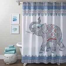 better homes and gardens global elephant shower curtain multiple