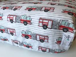 100 Fire Truck Bedding Truck Standard Crib Sheet Changing Pad Cover Blanket